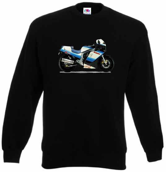 pullover sweatshirt suzuki gsx r 1100 1986 blau weiss ebay. Black Bedroom Furniture Sets. Home Design Ideas