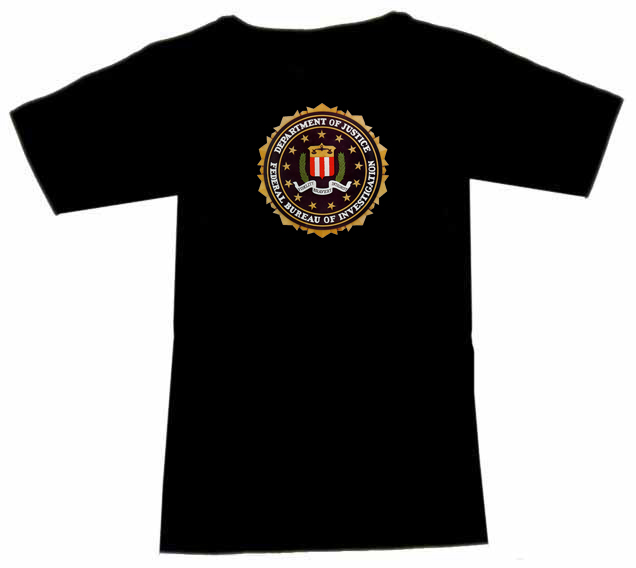t shirt mit department of justice fbi usa ebay. Black Bedroom Furniture Sets. Home Design Ideas