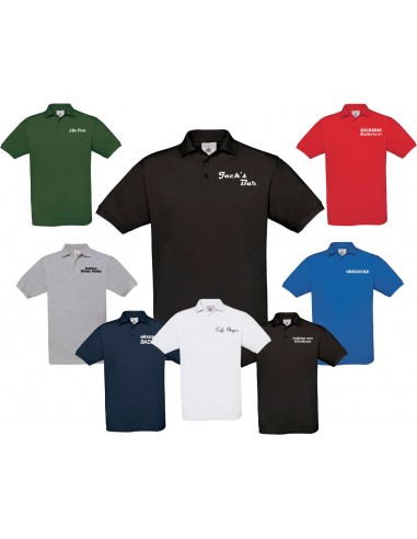 PoIo Shirt B&C Safran mit Brust-Aufdruck